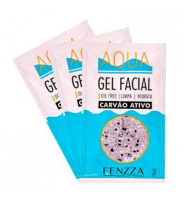 Aqua Gel Facial Carvão Ativo Sache Fenzza