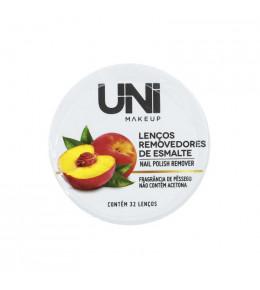 Lenços Removedores de Esmalte Pêssego Uni Makeup